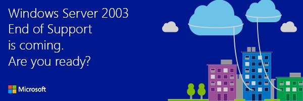Windows Server 2003 support is ending