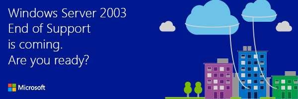 Windows Server 2003 support is ending